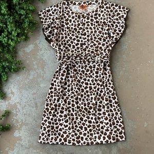 Tory Burch Leopard Print Fit & Flare Dress